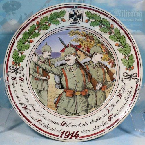 PATRIOTIC DISPLAY PLATE - 1914 - IDENTIFIED - SCHNVERT