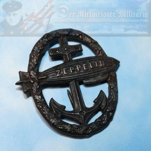 UNOFFICIAL NAVY ZEPPELIN BADGE - Imperial German Military Antiques Sale