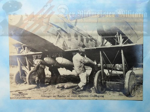 SANKE CARD NR 1057 - GERMAN BOMBER BEING LOADED WITH BOMBS