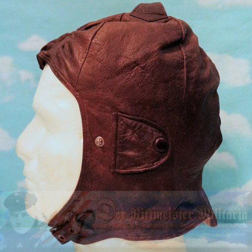 PRUSSIA - LEATHER FLYING HELMET - AVIATION - Imperial German Military Antiques Sale
