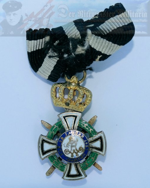 PRUSSIA - KNIGHT'S CROSS WITH SWORDS OF THE HOHENZOLLERN HOUSE ORDER - MINIATURE - Imperial German Military Antiques Sale
