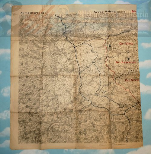 GERMANY - MAP - ARMY MILITARY - NR 1017 - ARRAS-VALENCIENNES - Imperial German Military Antiques Sale
