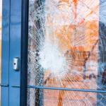 Insurance work commercial glazier Broken Shop door glass Northern ireland toughened door glass emergency glazing northern Ireland Belfast