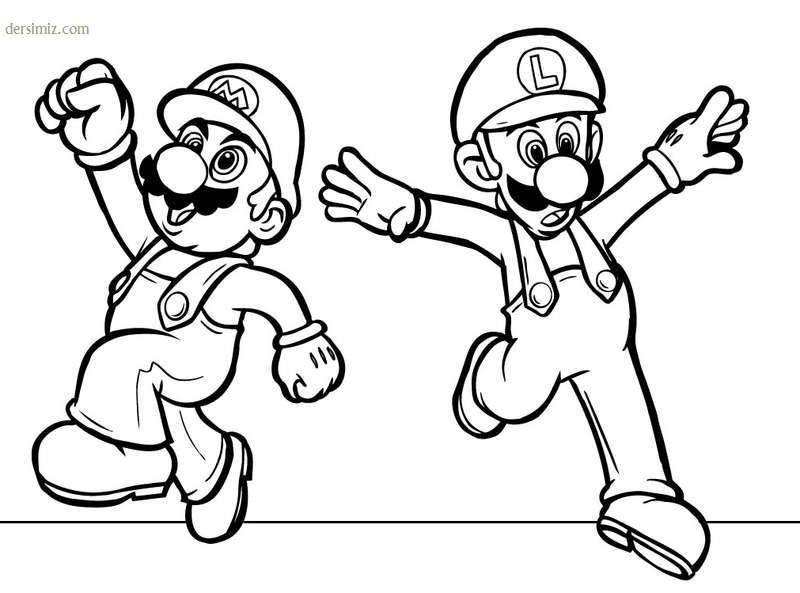 Süper Mario boyama resimleri kağıtları coloring pages