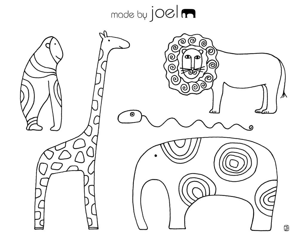 1. Sınıf Boyama Kağıtları Etkinlikleri Hayvanlar Alemi