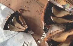 ricetta cheesecake al caffè cioccolato e pere