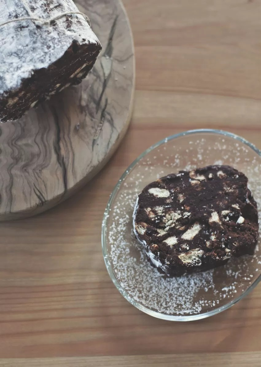 Ricetta salame al caffè e cioccolato