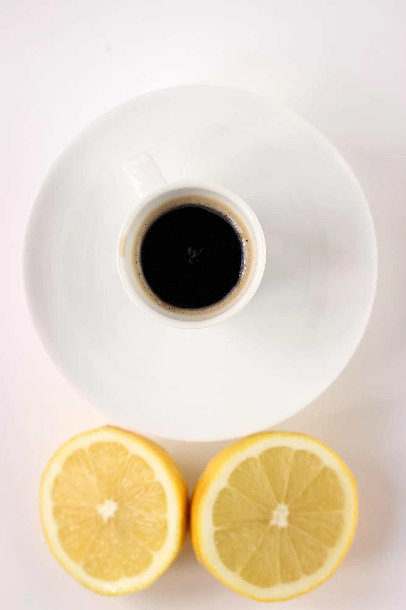 caffè e limone - rimedio per il mal di testa