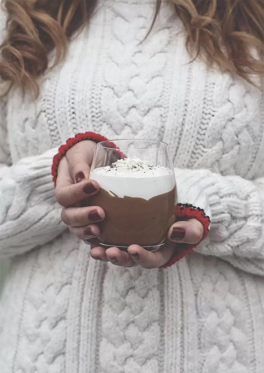 mousse al caffè con spuma al mascarpone e cioccolato bianco
