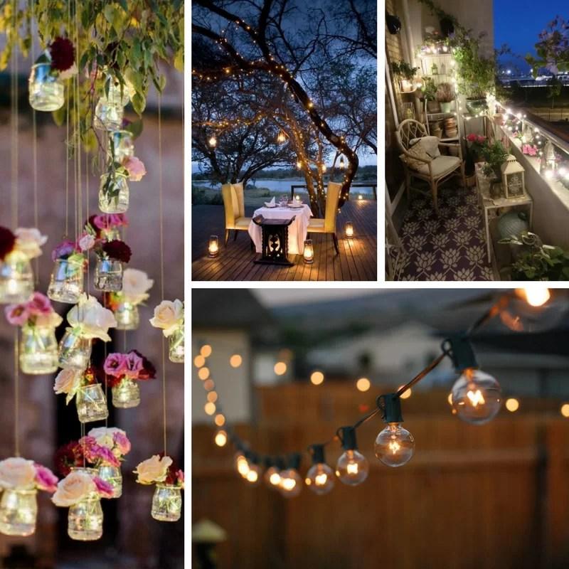 illuminazione giardino cena aperto idee ispirazioni