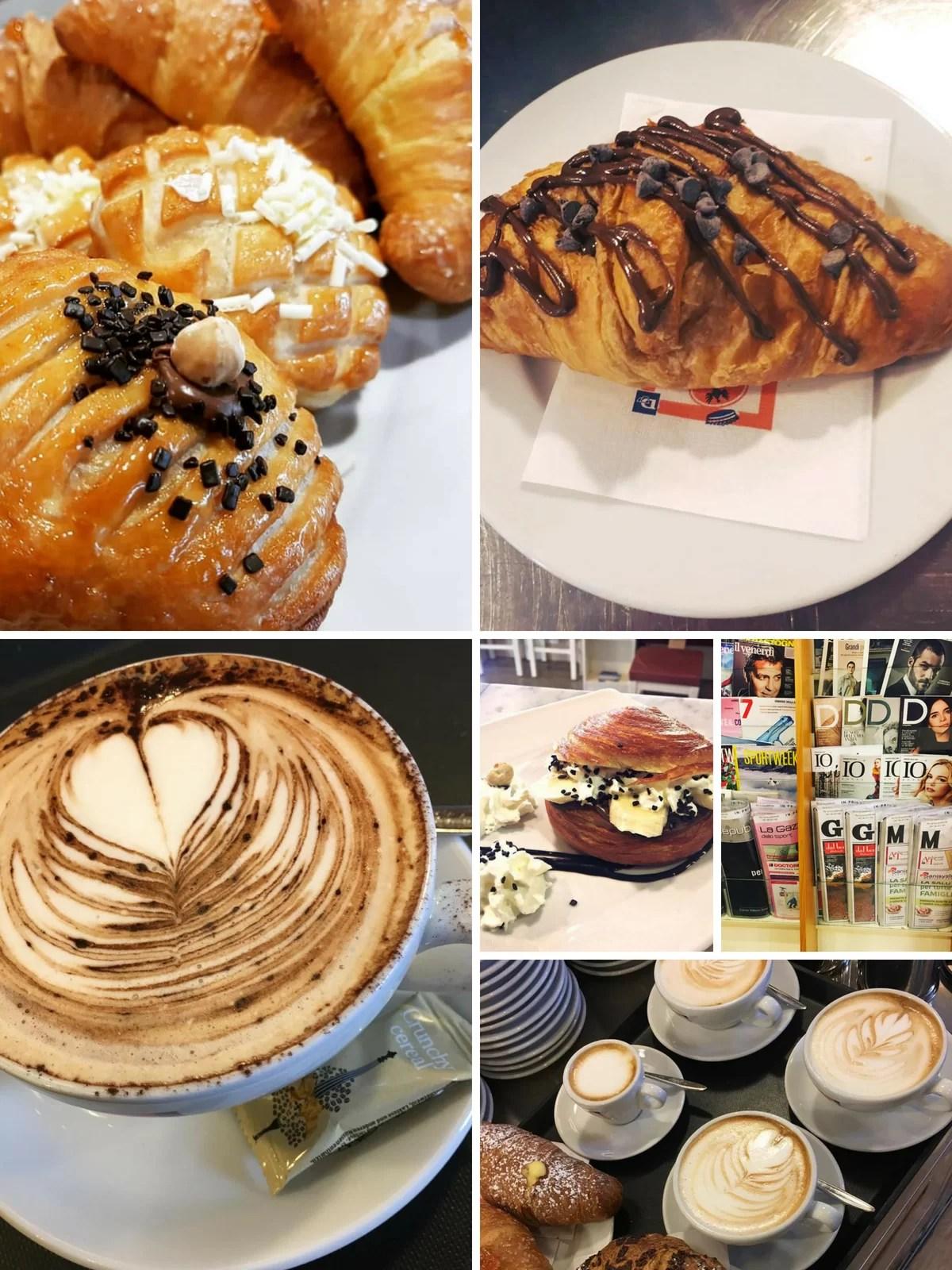 proposte colazione delle caffetterie giornale&caffè Dersut