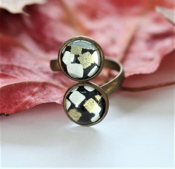 ring zwart/goud