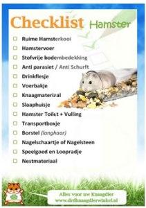 hamster checklist