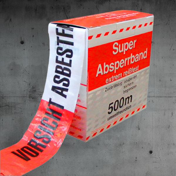 Absperrband Asbest,Absperrband,absperrband asbest reisfest DESABAG