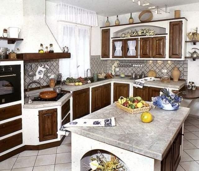 muebles de cocina falsa Palma de ladrillo