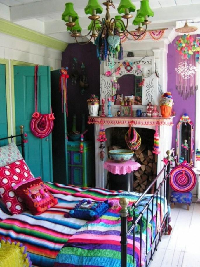 colorido sitio de la cama étnica originales