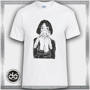 Buy Tshirt The Cat Girl Custom Tshirt mens Tshirt womens Size S-3XL