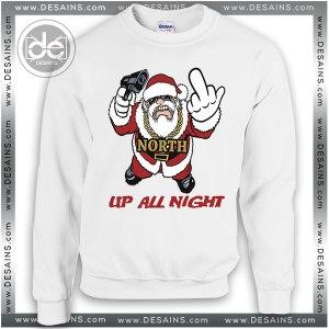 Buy Sweatshirt Fuck Santa Up All Night Sweater Womens Sweater Mens White