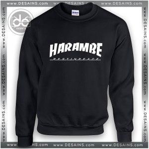 Sweatshirt Thrasher Rip Harambe Sweater Womens and Sweater Mens