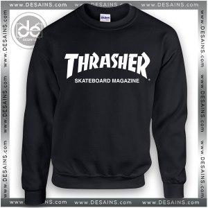 Sweatshirt Thrasher Skateboard Magazine Sweater Womens and Mens