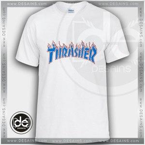 Buy Tshirt Thrasher Skate Blue Fire Tshirt Womens Tshirt Mens Size S-3XL
