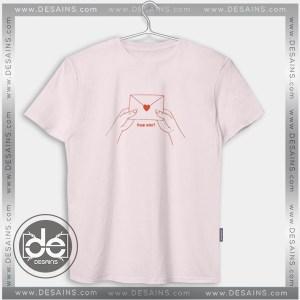 Buy Tshirt Love Letter Japanese Tshirt Womens Tshirt Mens Tees size S-3XL