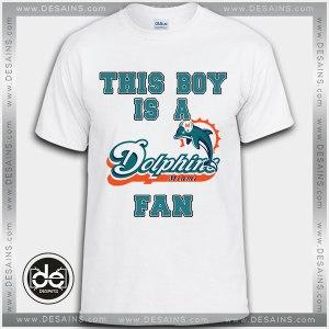 Buy Tshirt Miami Dolphins Fan Boy Tshirt Print Womens Mens Size S-3XL