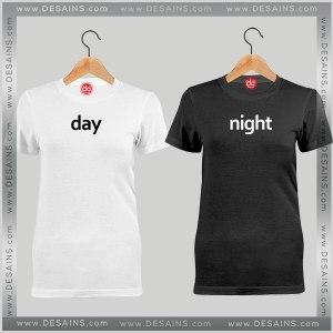 Cheap Couples Tee Shirt Day Night Custom Tshirt Funny