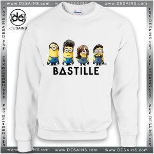 Cheap Graphic Sweatshirt Bastille Band Minions Crewneck Sweater