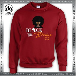 Cheap Graphic Sweatshirt Black and Boujee on Sale