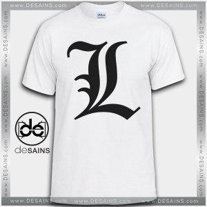 Cheap Graphic Tee Shirts L Death Note logo Tshirt On Sale
