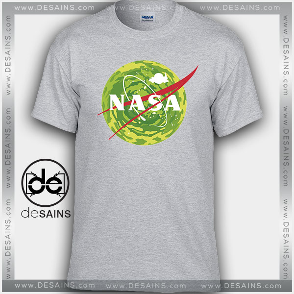 Cheap Graphic Tee Shirts NASA Logo Rick and Morty on Sale