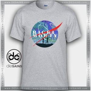 Cheap Graphic Tee Shirts Rick and Morty Nasa Logo On Sale