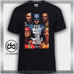CheapTee Shirts Justice League Poster Quote Tshirt Kids and Adult