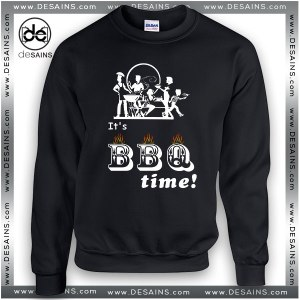 Cheap Graphic Sweatshirt Barbecue Party Time Sweater Unisex