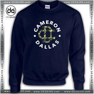 Cheap Graphic Sweatshirt Cameron Dallas Army Logo
