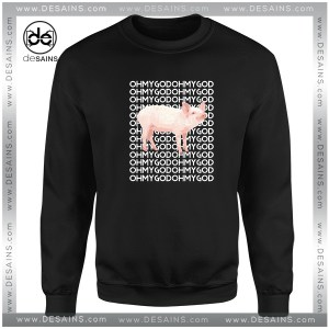 Cheap Graphic Sweatshirt Oh My God Pig Funny