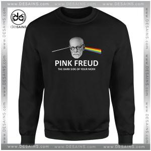 Cheap Graphic Sweatshirt Pink Freud Dark Side Of Your Mom