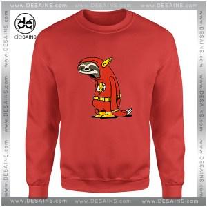 Cheap Graphic Sweatshirt The Flash Sloth Slowest Size S-3XL