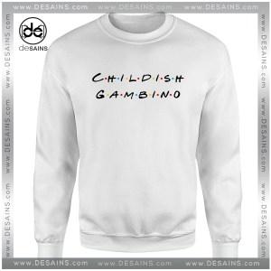 Cheap Graphic Sweatshirt Childish Gambino Friends Logo