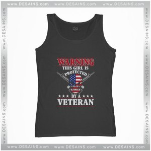 Cheap Graphic Tank Top This Girl Is Protected By A Veteran
