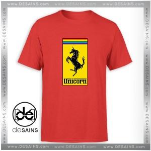 Cheap Graphic Tee Shirt Gay Pride Month Ferrari Logo Unicorn Size S-3XL