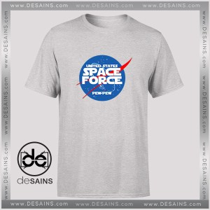 Cheap Graphic Tee Shirt United States Space Force Nasa Logo Size S-3XL