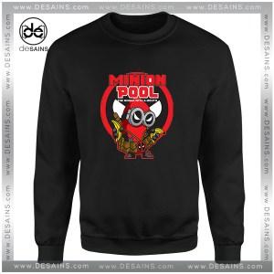 Cheap Sweatshirt Minion Pool Deadpool Funny Crewneck Size S-3XL