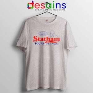 Buy Statham Tours Los Angeles Tee Shirts Jason Statham Sport Grey Tshirt