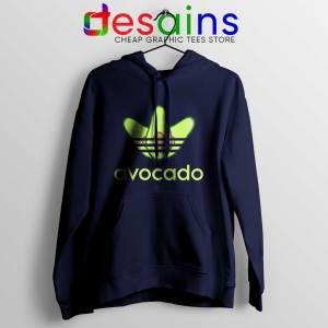 Avocado Three Stripes Cheap Hoodie Funny Adidas Navy Blue