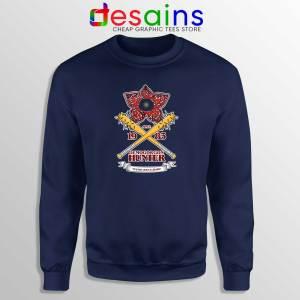 Buy Sweatshirt Stranger Things Season 3 Demogorgon Hunter Navy Blue