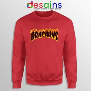 Sweatshirt Red Dracarys Thrasher Fire Sweater Game of Thrones