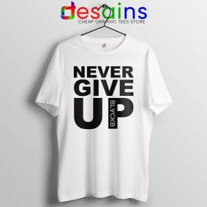 Tee Shirt Never Give Up Mohamed Salah Tshirt Liverpool FC White