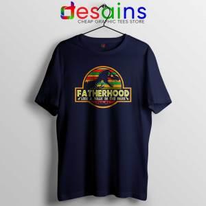 Cheap Tshirt Fatherhood Like A Walk In The Park Retro Vintage T-Rex